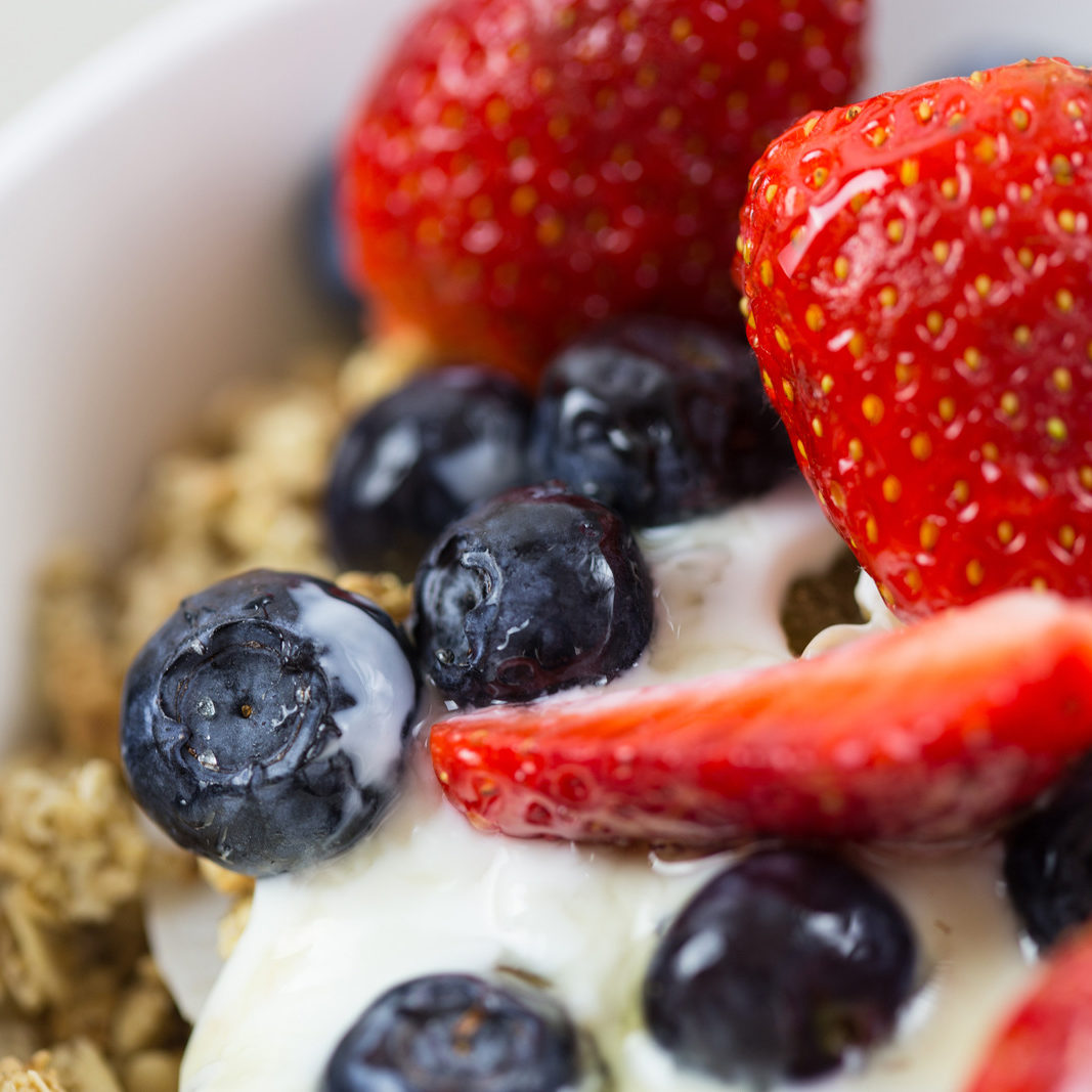 Closeup shot of healthy breakfast